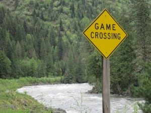 Game Crossing sign
