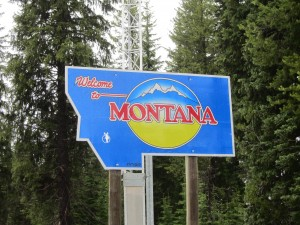 Welcome to Montana sign